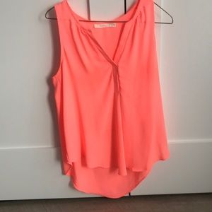 Neon lush sleeveless blouse size small